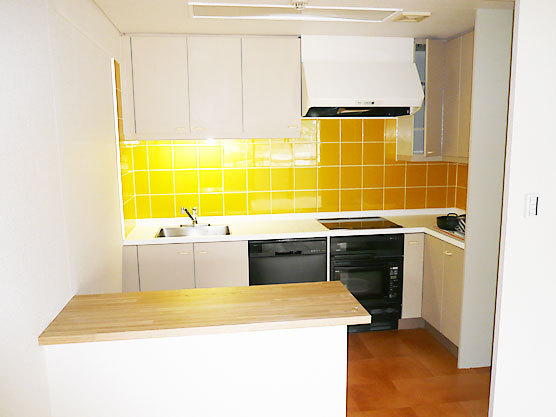 ビタミンカラーの明るいキッチン