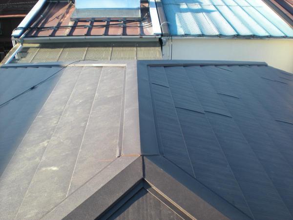 艶のある屋根で綺麗な外観に