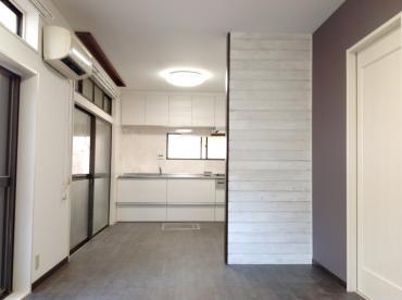 台所と和室を融合して広々LDKに