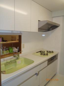 お気に入りの色のキッチン