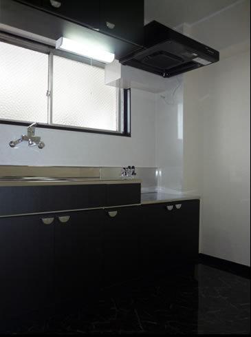 黒色のクールなキッチン