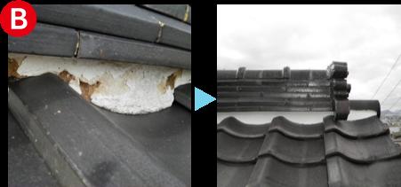 屋根の修理工事