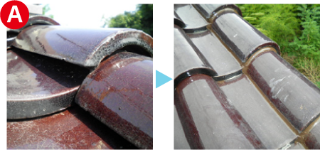 台風の被害を修繕した屋根