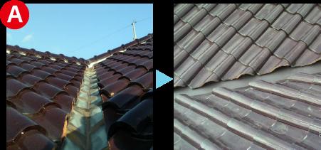 屋根の痛みを修繕