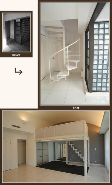 空間の広がりを感じるこだわりの階段