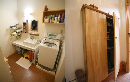 シンプルな洗面所