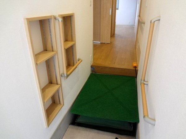 ゆったりとしたスペースを確保した玄関