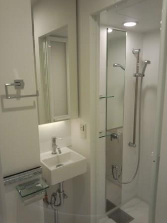 ホテルライクのシャワーブース