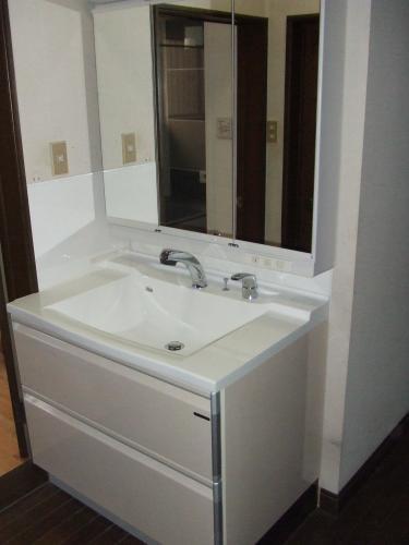 横幅が魅力的な洗面化粧台