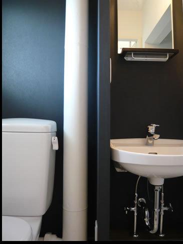 シンプルな快適洗面所