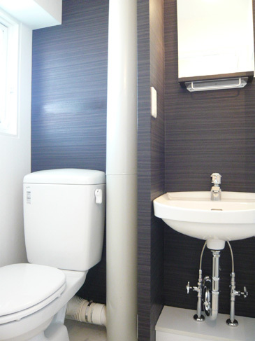 シンプルな清潔洗面所