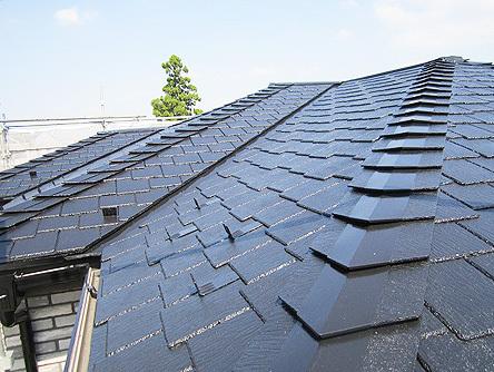 真新しさを感じる屋根