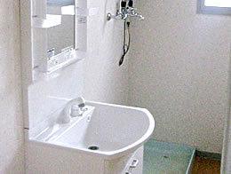 洗面化粧台の交換+内装替え