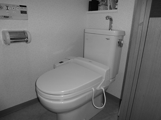 落ち着いた雰囲気で思わず長居できちゃうトイレに。