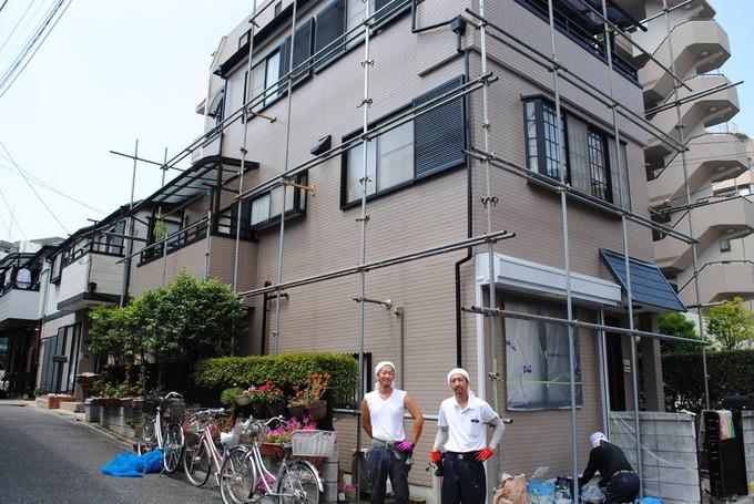 3階建てでもこの価格59.6万円で塗装の家
