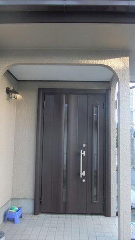 1日でできる、玄関ドア取替え工事