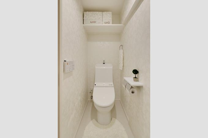 すっきりとしたトイレ空間