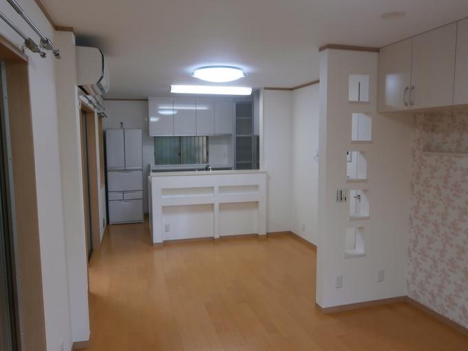 キッチンの交換とLDK隣接の和室改装