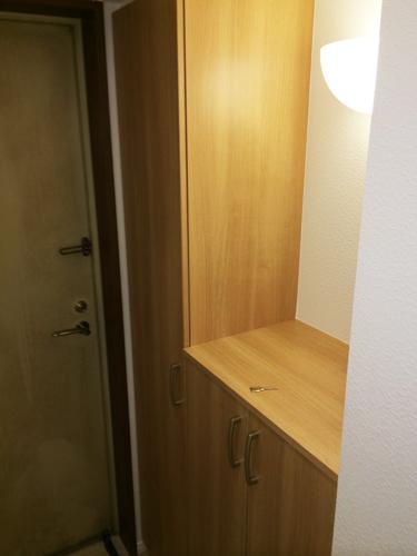 天板は物を置けるようにオープンにしました。