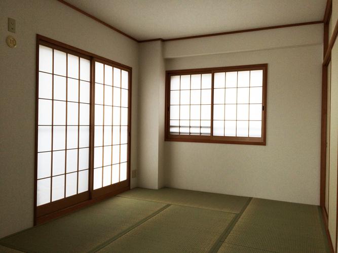 6帖和室の内装全てリフォームして8万円!