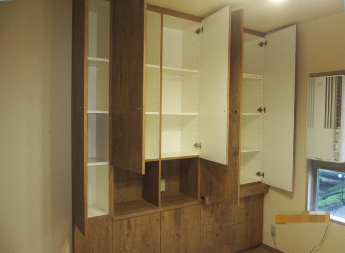 オーダー収納とキッチン交換・内装工事