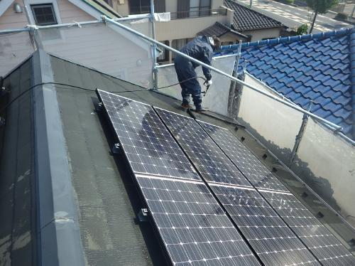 屋根遮熱塗装(シリコン)