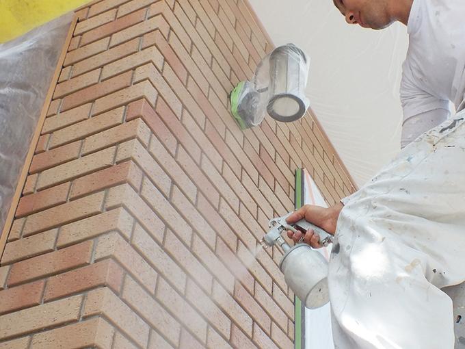 外壁防水塗装・基礎防水塗装の施工写真
