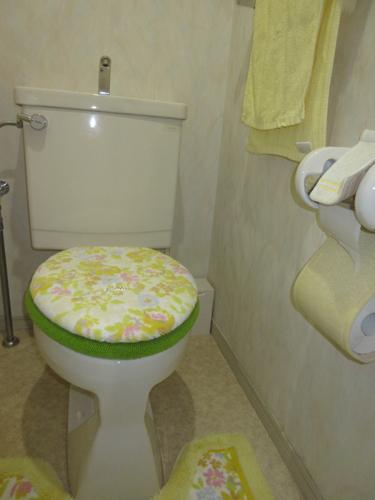 以前の手洗い付タンクのトイレですが、非常にきれいにお使いでした。