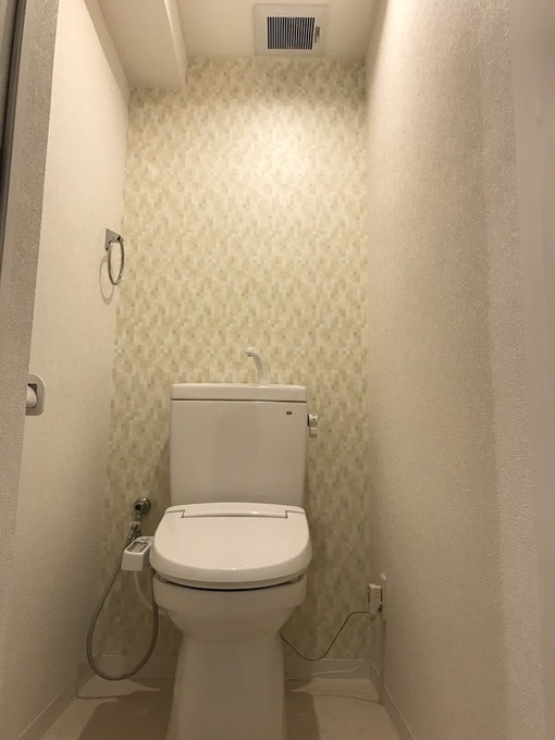 暖かい印象のトイレ