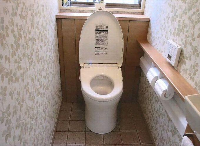 ウォシュレット付きのすっきりしたトイレに交換