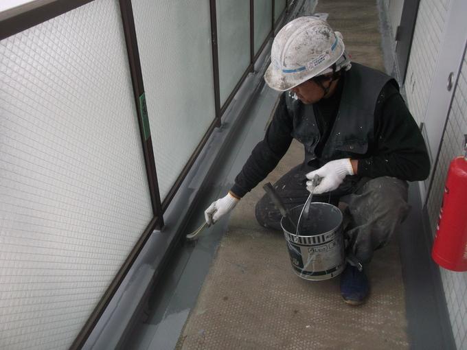 東京都武蔵野市中町 マンション改修工事 長尺シート貼