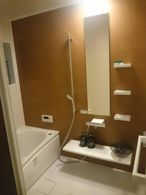冬でも暖かの浴室。