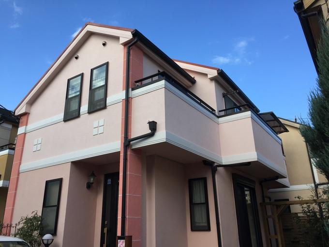 世田谷区祖師谷 外壁・屋根塗装・バルコニー保護塗料塗替え工事