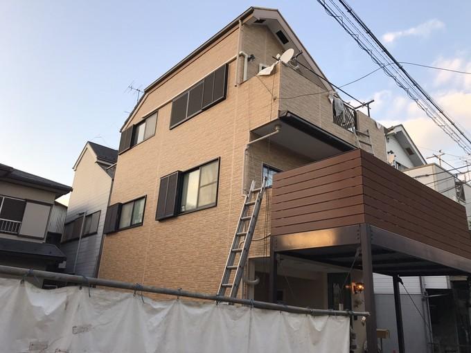 外壁サイディング通気構法で張り替え工事