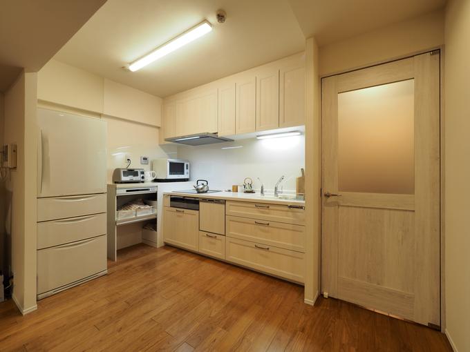木目のやさしいキッチン