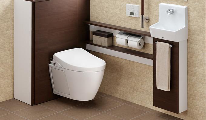 抜群の収納力と、お掃除のしやすさ、素敵なトイレ空間