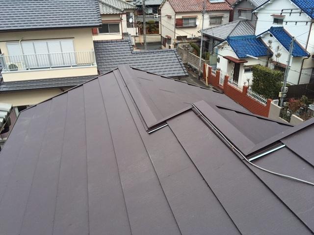屋根葺き替え工事後 スーパーガルテクト