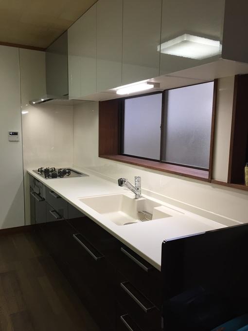 ワイド3000の大型キッチン