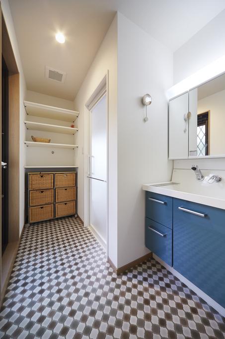 モロカンテイストの可愛い洗面所