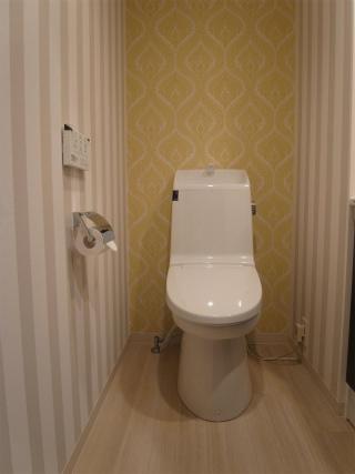明るいトイレに