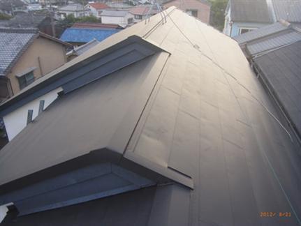 枯れ葉詰まりをブロック!ネットを利用した屋根リフォーム