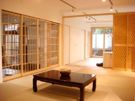 近代的和室 網代編みを建具に採用し趣を演出