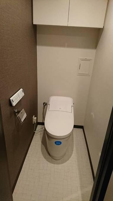 節水効果抜群でお掃除しやすいトイレ