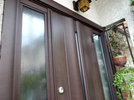 木製の玄関ドアから断熱性に優れた玄関へ取替 玄関編