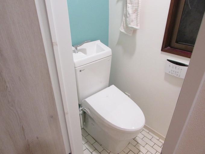 広くなった可愛らしいトイレ