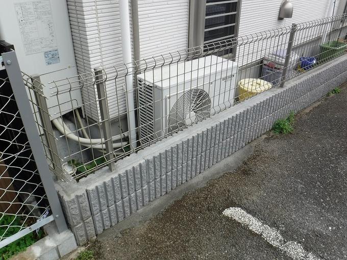 ブロックフェンス交換工事