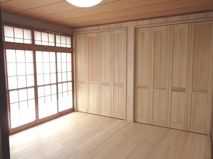 和室を無垢の木のぬくもりあふれる洋室に