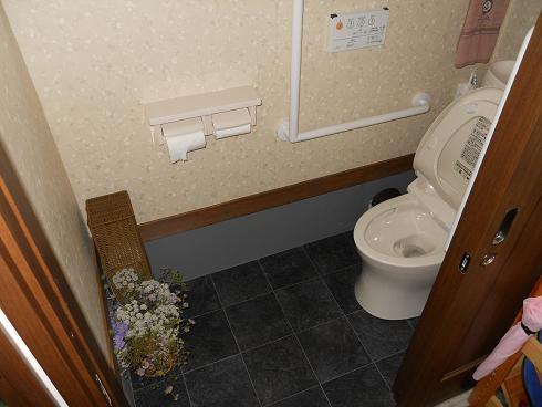 トイレ:コテージ風の家