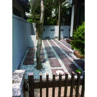 庭造作・塀塗装工事(リフォーム施工事例:流山市)