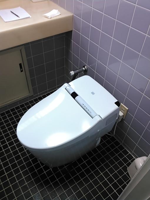 トイレの向きを変更